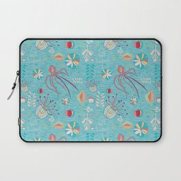 Sea Creatures Swimming in the Ocean Blue Laptop Sleeve