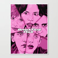 the breakfast club Canvas Prints featuring Breakfast Club by David Amblard