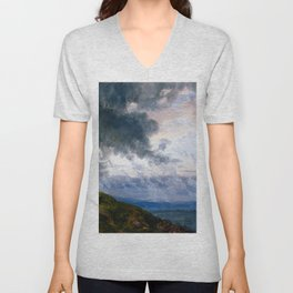 Johan Christian Dahl Drifting Clouds Unisex V-Neck