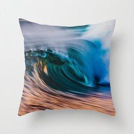 Slow Shutter Of Wave Throw Pillow