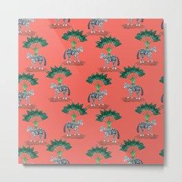 tropical zebra #livingcoral Metal Print