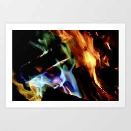 Rainbow Flames Art Print