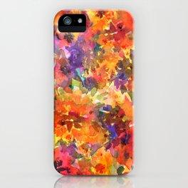 Orange Wildflower Patch iPhone Case