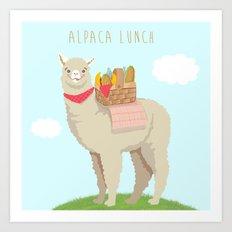 Alpaca Lunch Art Print