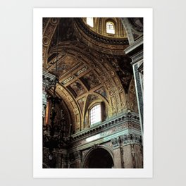 Chiesa Gesu Nuovo Art Print