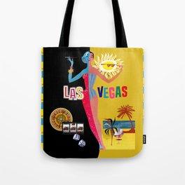 Loving Las Vegas   vintage black & gold Tote Bag