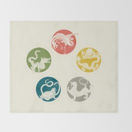 Five Heavenly Beasts Throw Blanket