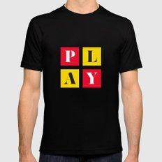 Play Mens Fitted Tee MEDIUM Black