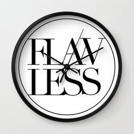 FLAWLESS (MINIMAL) Wall Clock