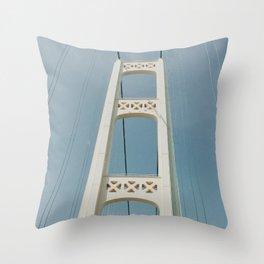 Mackinaw Bridge Throw Pillow