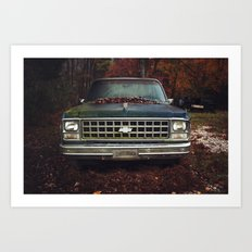 Old Growth Chevy Art Print