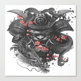 Sleeve tattoo Samurai Irezumi Canvas Print