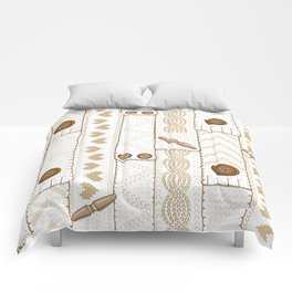 Scarves Knitted Buttoned - Beige Comforters