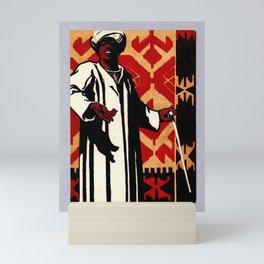 retro Plakat mono n3 les tapis schuster Mini Art Print
