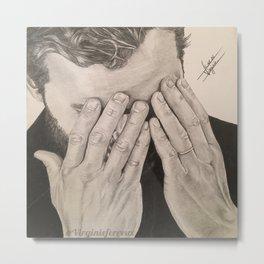 """Hands"" Jamie Dornan Metal Print"