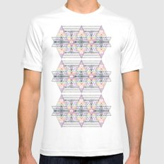 Aztec 2 MEDIUM White Mens Fitted Tee