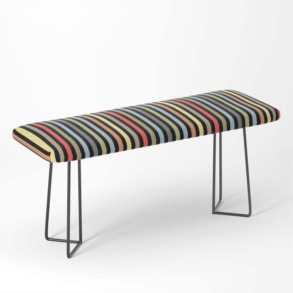 Multi-Colored_Stripe_Multicoloredstripes_Simple_Minimalist_Bench_by_palitraart