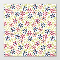 matisse Canvas Prints featuring Matisse Floral by Rosie Simons