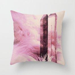 Quartz Points Throw Pillow