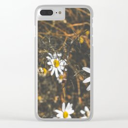 Basking Florals Clear iPhone Case