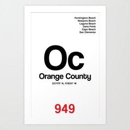 Orange County City Poster Art Print