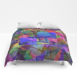 Pieces Of colour - Abstract, colour fragments Comforters