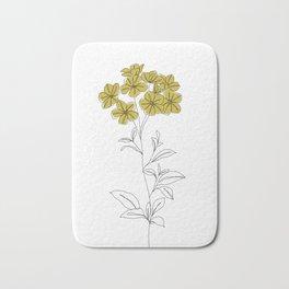 Botanical floral illustration line drawing - Iona Bath Mat