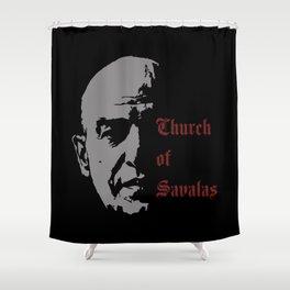 CHURCH OF SAVALAS - TRIBUTE TO TELLY SAVALAS Shower Curtain