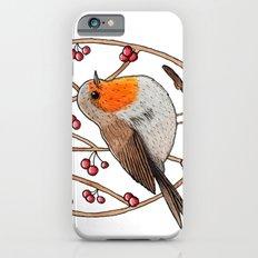 Christmas winter robin iPhone 6s Slim Case