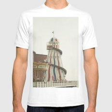Brighton Pier Mens Fitted Tee MEDIUM White