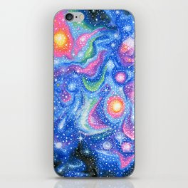 Psychedelic Galaxy iPhone Skin