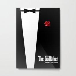 The Godfather - minimal movie poster Metal Print