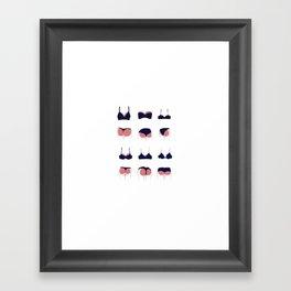 Butts & Bras Framed Art Print