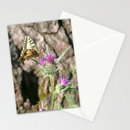 Scarce Swallowtail Butterfly and Thistle Stationery Cards