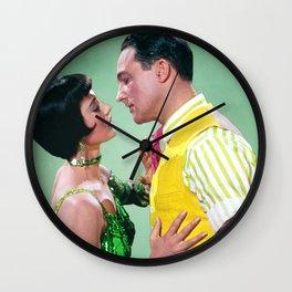 Gene Kelly & Cyd Charisse - Green - Singin' in the Rain Wall Clock