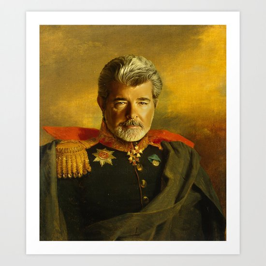 George Lucas - replaceface Art Print