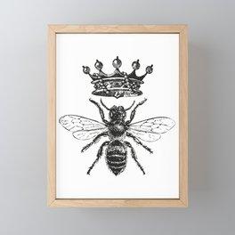 Queen Bee | Black and White Framed Mini Art Print