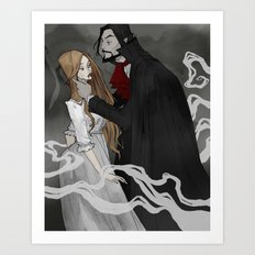Dracula and Lucy Art Print
