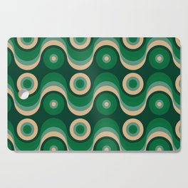 70s Optical Wallpaper Cutting Board