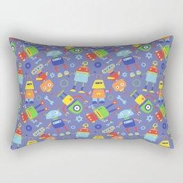 Fun Robot Toy Pattern Rectangular Pillow