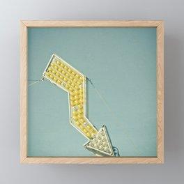 Golden Arrow Framed Mini Art Print