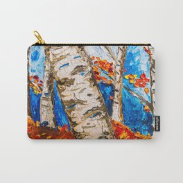 BIRCHES IN RED Carry-All Pouch