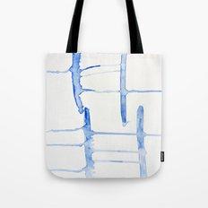 watercolor drips - blue cross Tote Bag