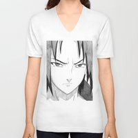 sasuke V-neck T-shirts featuring Sasuke by DeMoose_Art