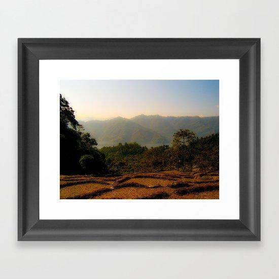 Nepalese valley  Framed Art Print