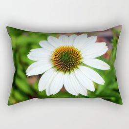 White Coneflower Rectangular Pillow