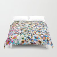 confetti Duvet Covers featuring Confetti by FRAXTURED