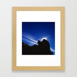 In the Vortex of a Sci-Fi Jetstream Framed Art Print