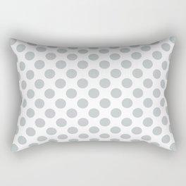 Light Grey Polka Dots Pattern Rectangular Pillow