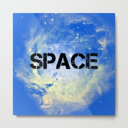 Blue Space Metal Print